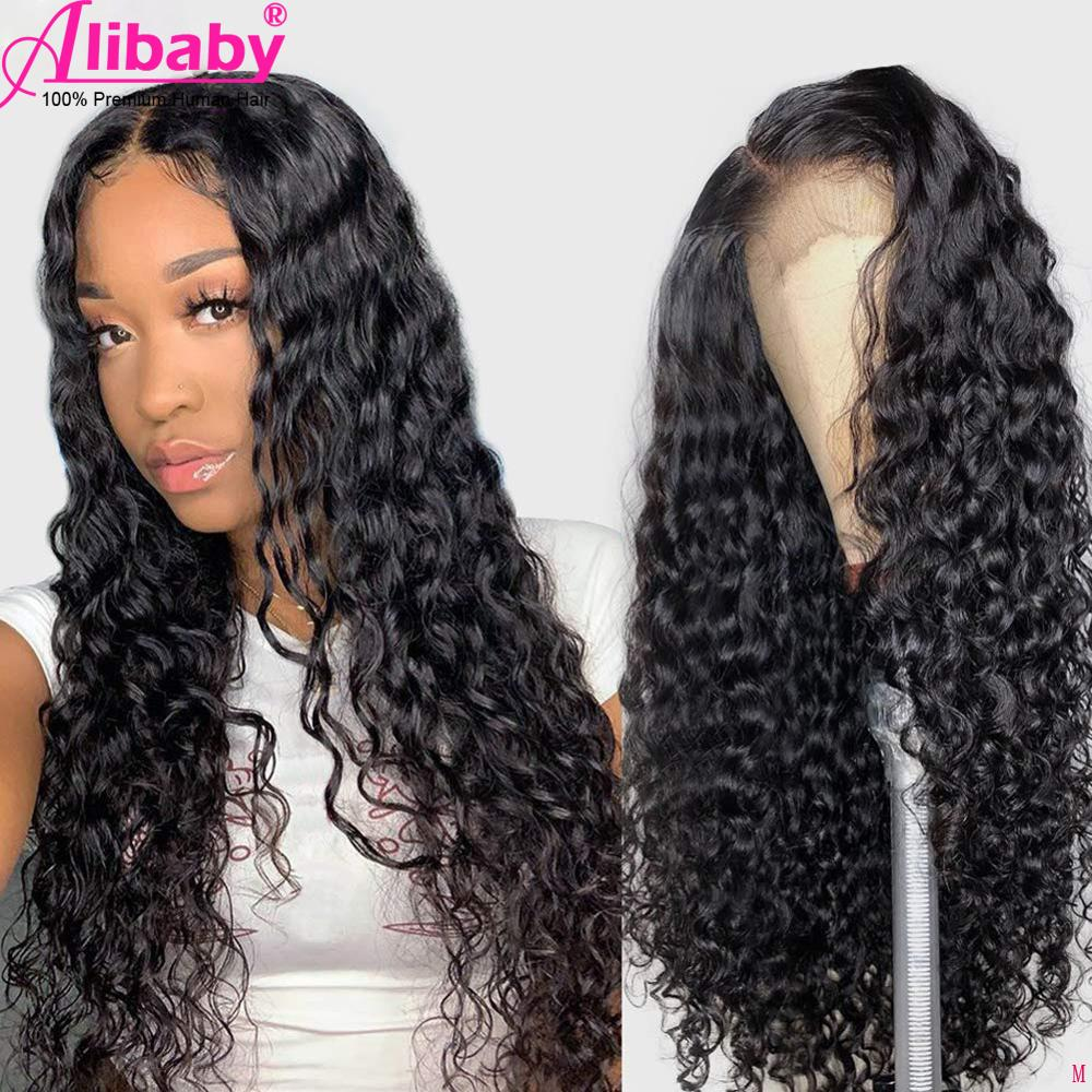 Hd Lace Wig Water Wave Lace Front Wig 28 Inch Brazilian Transparent Lace Wigs For Black Women Remy Wet And Wavy Human Hair Wigs