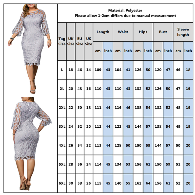 6XL Elegant Women Dress Plus Size Transparent Seven Sleeve Party Dress Autumn Ladies Knee-Length Dress Fall Retro vestidos D30 5