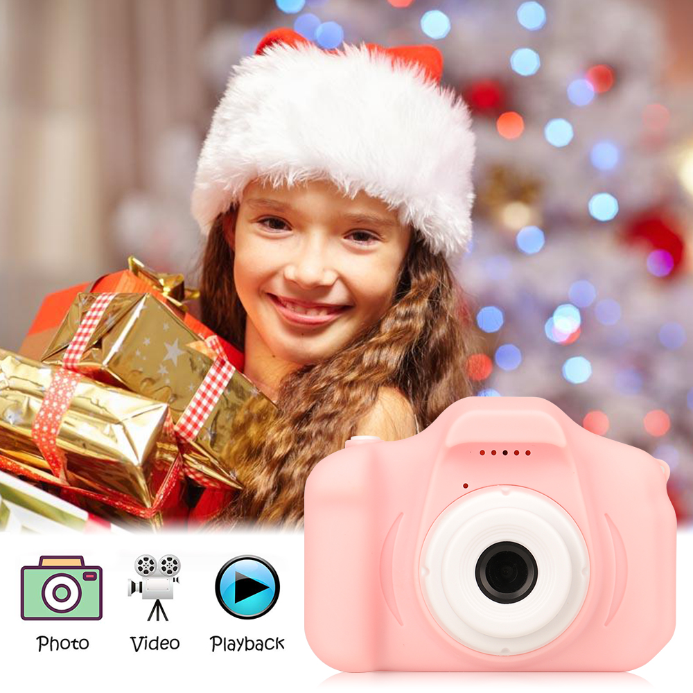 New Arrive Hot Sale Mini Children's Camera Rechargeable Pink Photo Video Playback 32 GB Kids Toys Child Girl Birthday Present 3