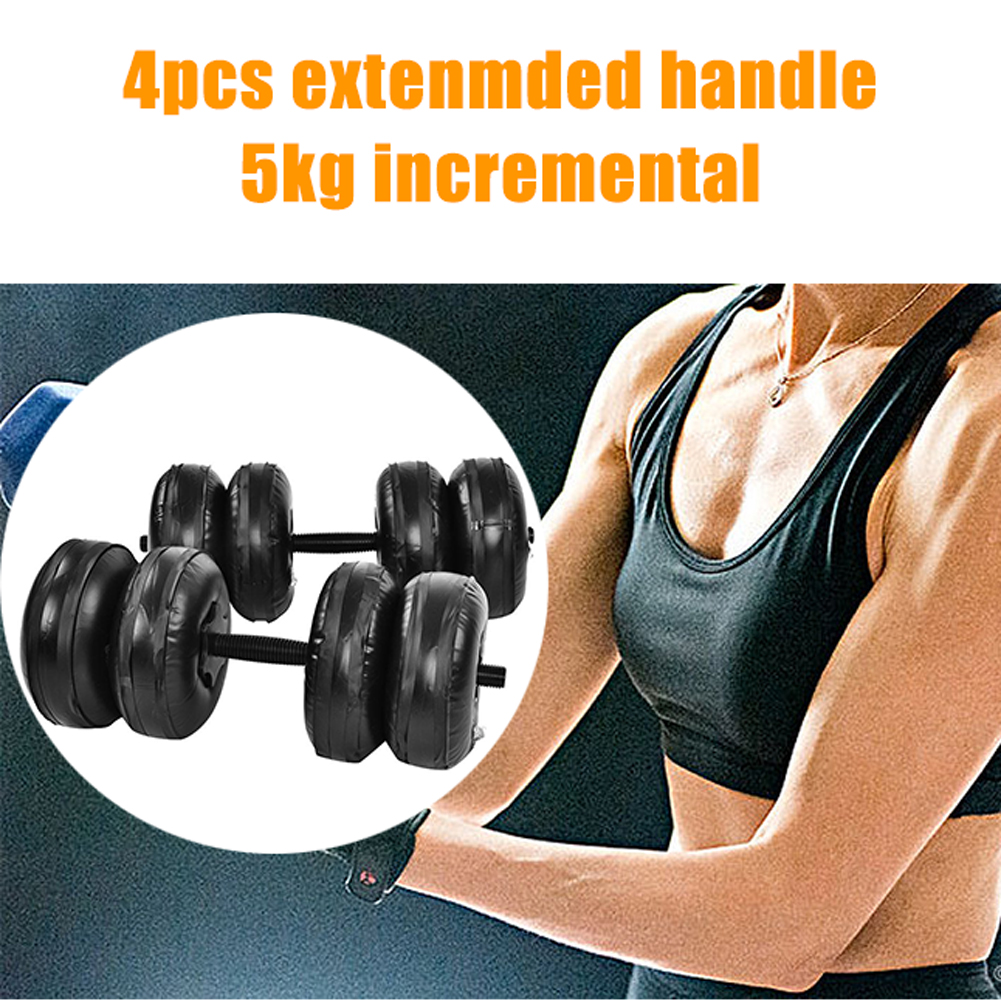 Water Filled Adjustable Dumbbells Environmentally Friendly Training Arm Muscle Fitness Dumbbell Anti Impact Portable