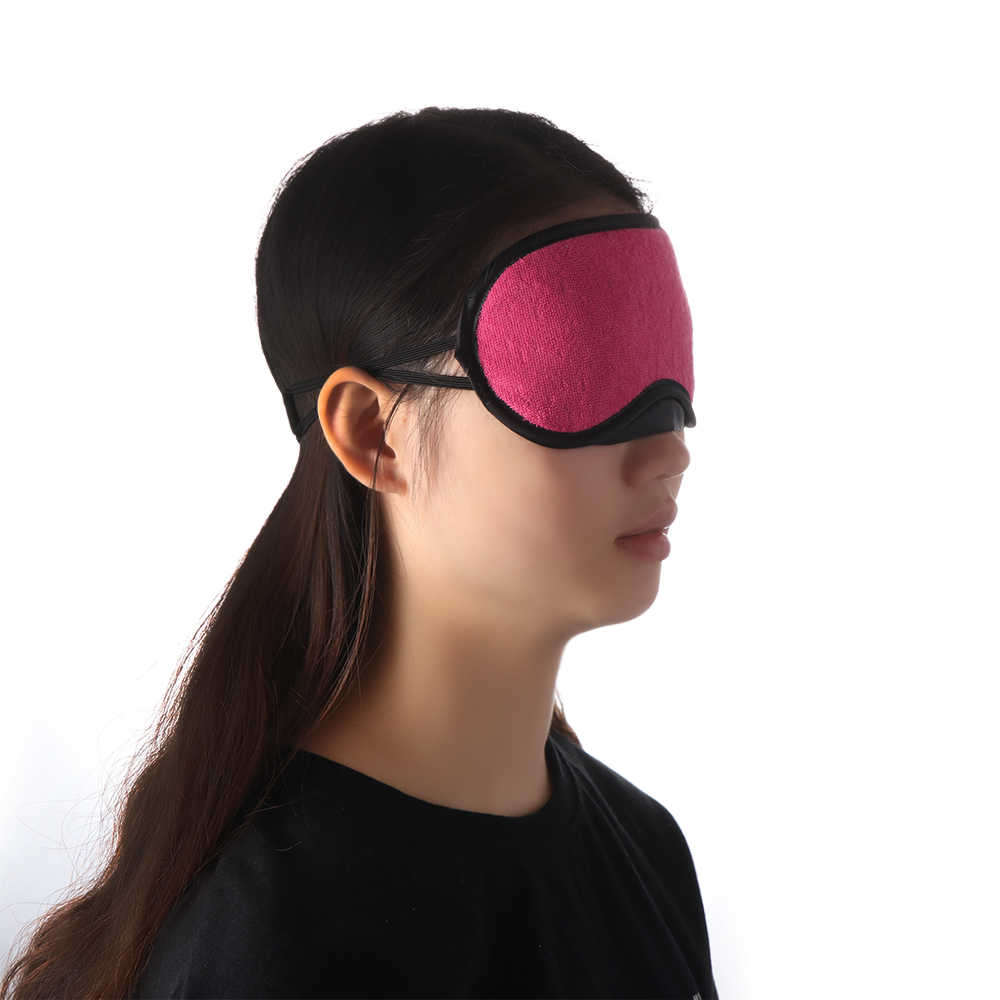 ソフト綿睡眠アイマスクタオル睡眠目保護目隠しアイカバー眼帯ブルーローズレッド黒