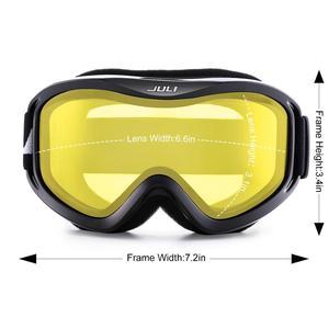 Image 3 - סקי משקפי, חורף שלג ספורט עם נגד ערפל כפול עדשת סקי מסכת משקפיים סקי גברים נשים שלג משקפי