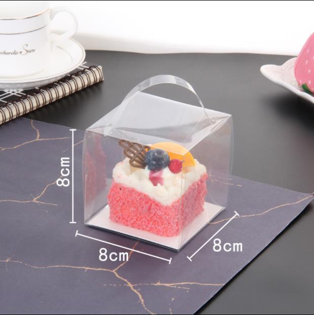 50 pièces 8*8*8cm mariage Transparent Cube Favour boîtes bonbons sucrés gâteau sacs-cadeaux