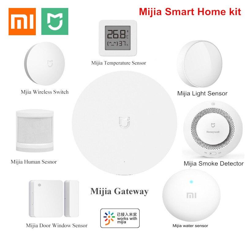 Xiaomi kit de casa inteligente mijia gateway 3 janela do corpo humano sensor temperatura e umidade sem fio interruptor sensor água