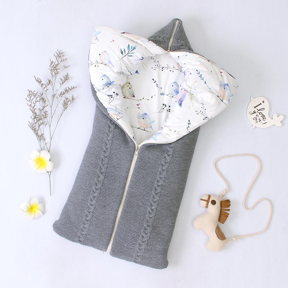 Baby Sleeping Bags Newborn Bebes Thick Warm Sleep SackS For Stroller Autumn Winter Zip UP Infant Boys Girls Enevelopes 0-6Months