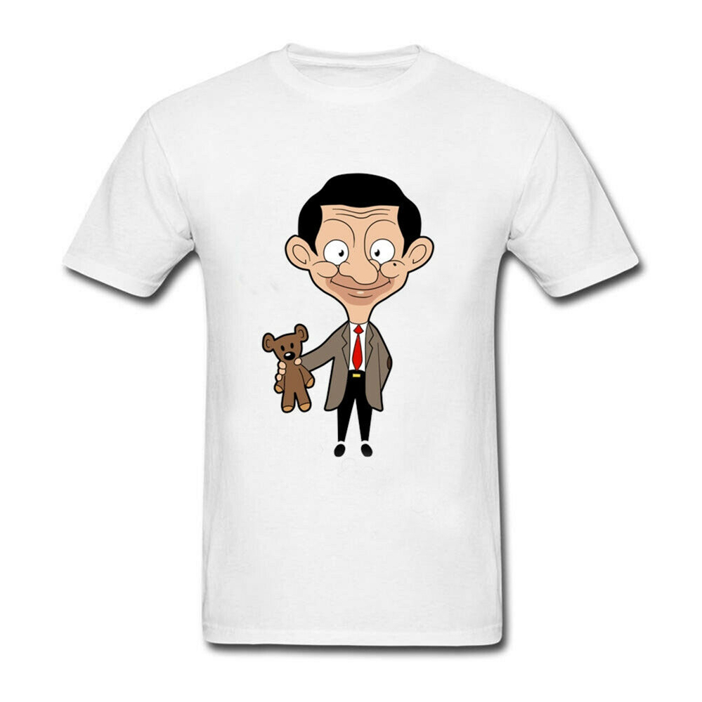 <font><b>Mr</b></font> <font><b>Bean</b></font> <font><b>Cartoon</b></font> New Men'S T-Shirt Size S To 3Xl High Quality Casual Printing Tee Shirt image