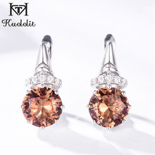 Kuololit Zultanite Gemstone clip earrings for women solid 925 sterling silver color changing diasporas stone earrings jewelry