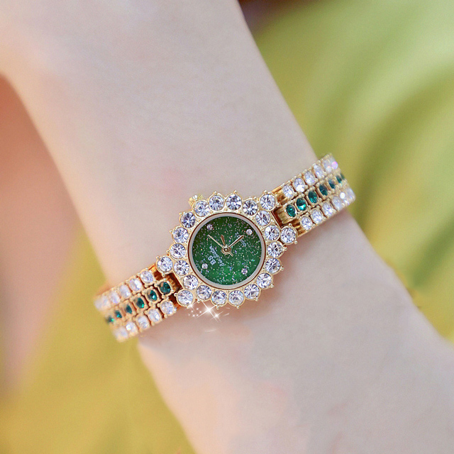 Watches Womens 2020 Top Luxury Brand Small Dress Diamond Watch Women Bracelet Rhinestone Wristwatch Women Montre Femme  10