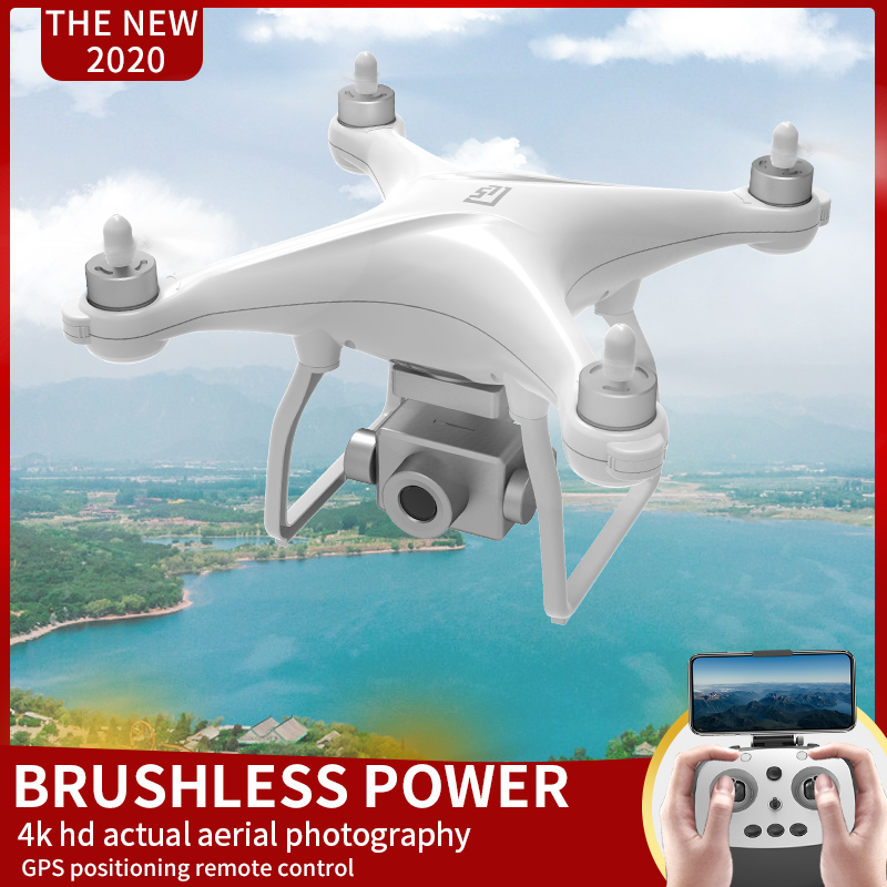 LANSENXI new GPS RC drone L5 4K HD camera professional Quadcopter brushless motor three axis gimbal stabilizer 25 minutes flight