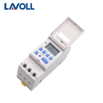 7 Days Programmable Digital Timer Switch Electronic Weekly  Relay Timer Control AC 220V 110V 12V 24V 16A Din Rail Mount