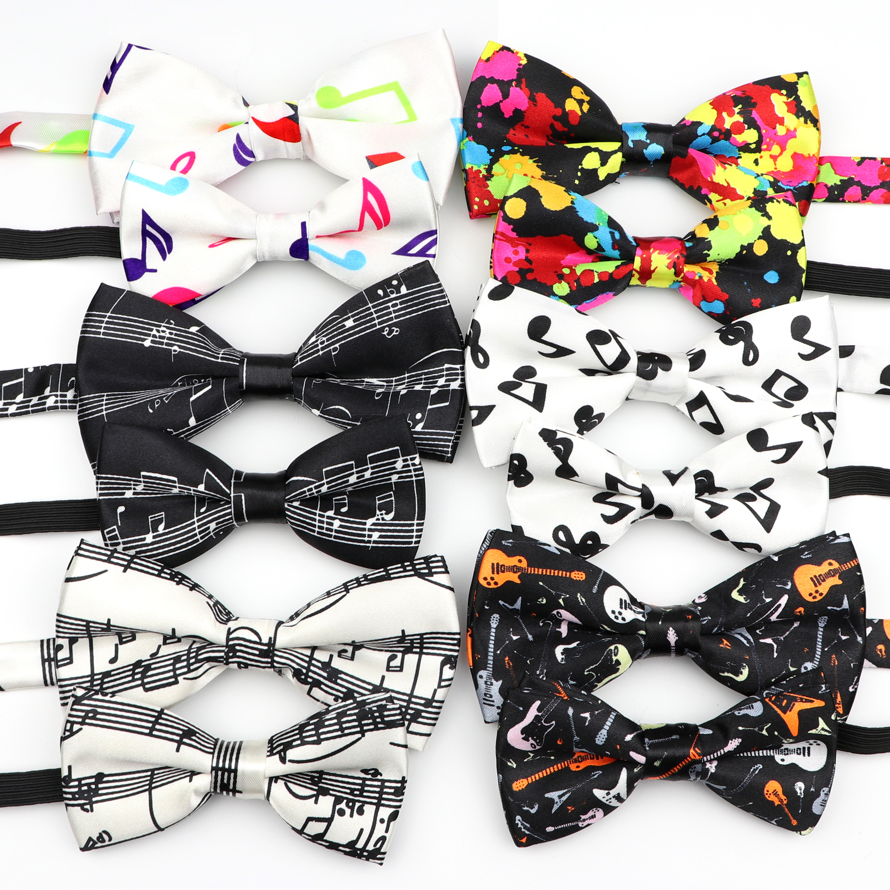 Music Note Parent-Child Bowtie Set Piano Stave Guitar Plaid Family Butterfly Party Dinner Wedding Design Cute Bow Tie Accessory