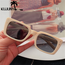 KUJUNY Ladies Narrow Frames Sun Glasses Retro Small Rectangl