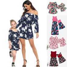 Mom And Daughter Floral Dress Soft Casual Fashion Clothes Gi