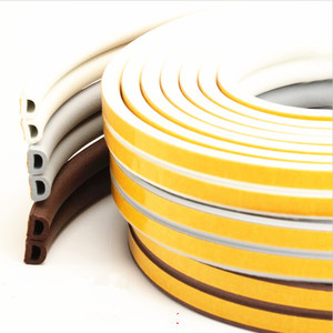 Image 3 - 5 Meters D P E Type Draught Excluder with Self Adhesive Foam Rubber Seal Strip for Window and Door seal in Home Improvement