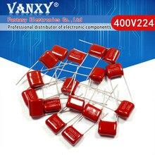 20PCS 220NF 400V224J 400V 0.22UF 400V P10 224J 224 CBB filme de Polipropileno capacitor