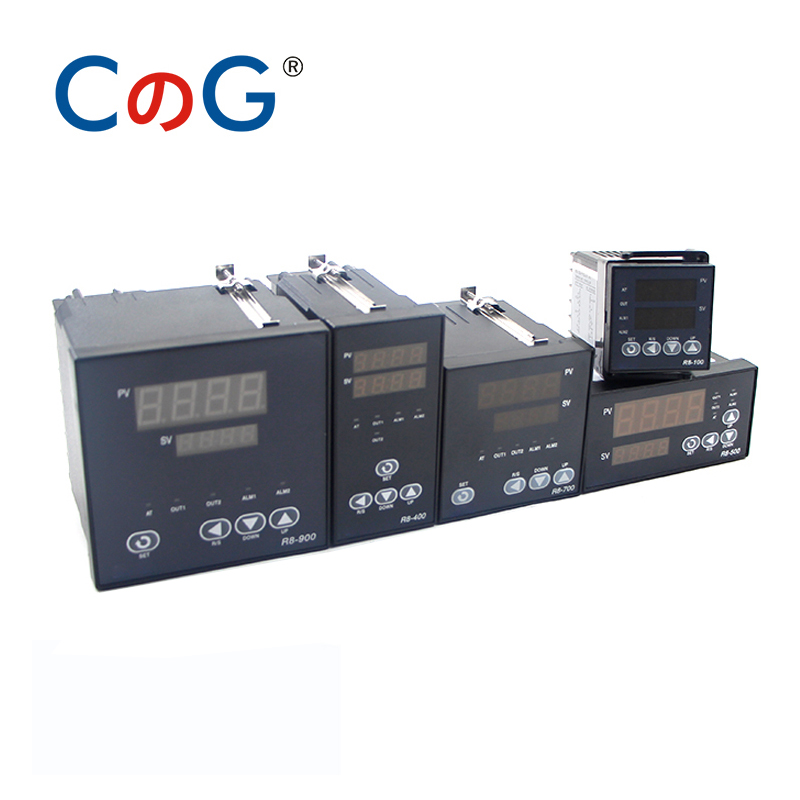 R8-100 Multiple Input K J PT100 Thermostat AC 220V Digital Output SSR Relay 1300 degree PID Programmable Temperature Controller