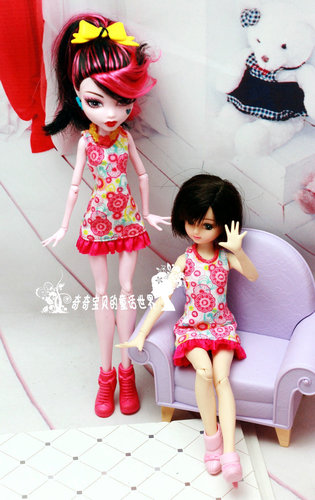 Monstering High Doll Clothes Handmade Outfit Soft Personality Doll Dress Jacket Skirt Doll Clothing Set Quality Doll Clothes 10