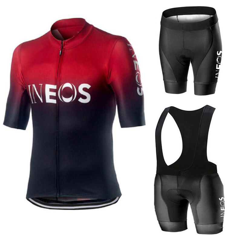 2020 Baru Ineos Musim Panas Bersepeda Jersey Set Bernapas Tim Balap Olahraga Sepeda Jersey Pria Bersepeda Pakaian Pendek Sepeda Jersey Nw title=