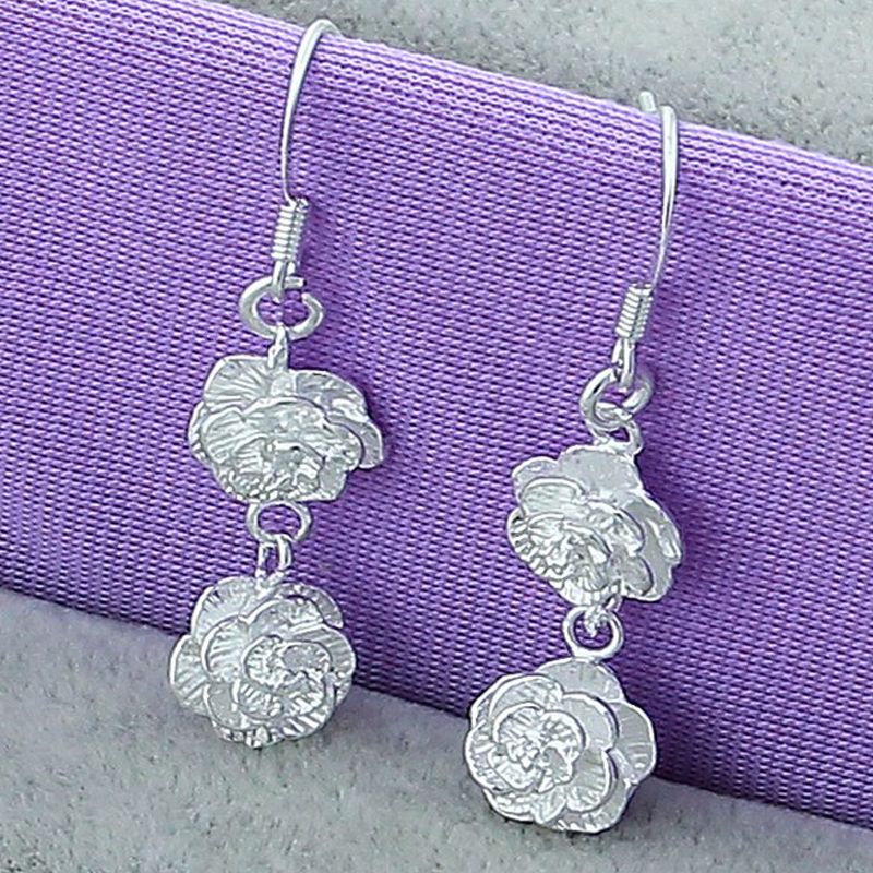 925 Sterling Silver Simple Drop Earrings 4
