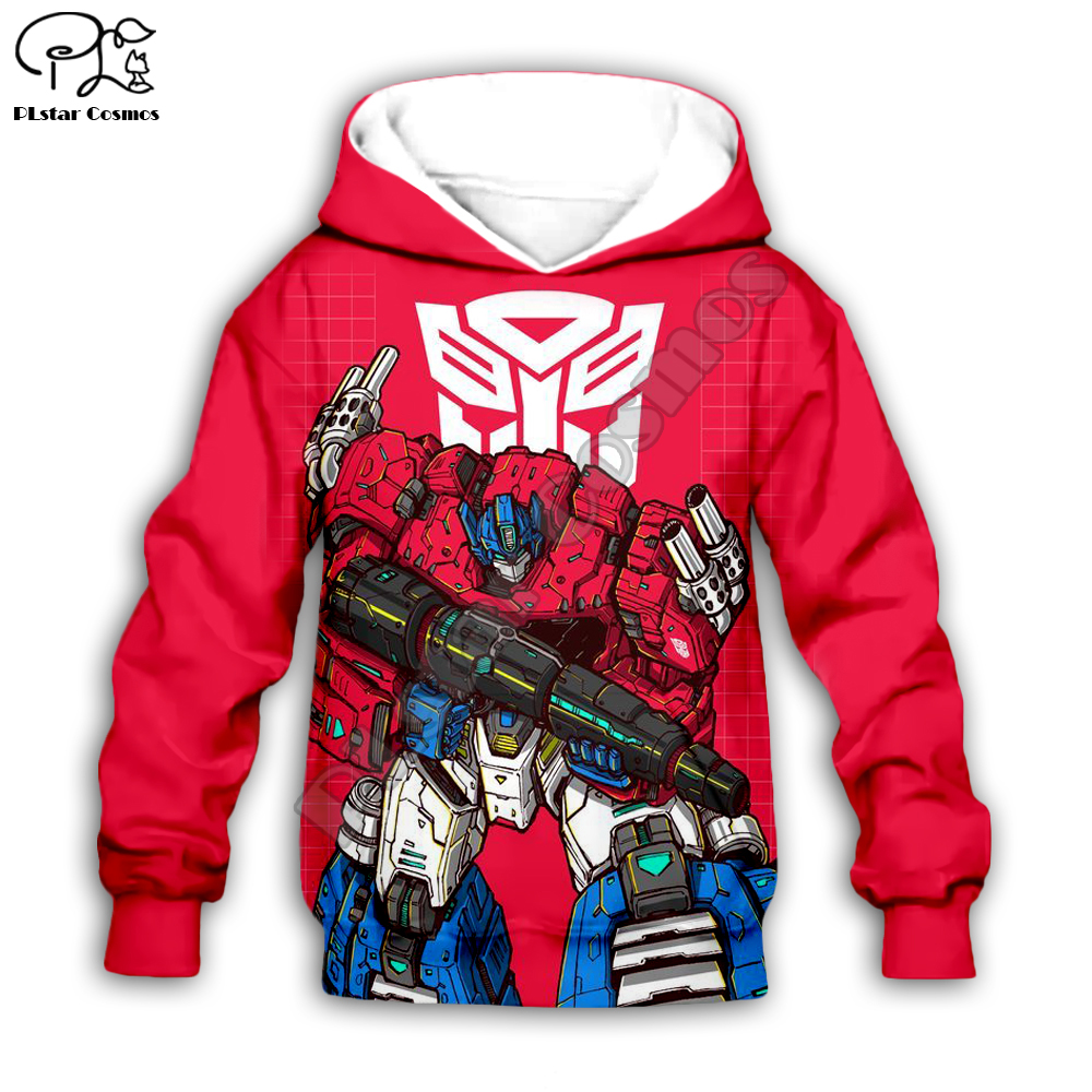 Kids  Baby Clothes Autobots Transformation Robot 3D Print Zipper Hoodies/boy  Long Sleeve Cartoon Pant Style-1