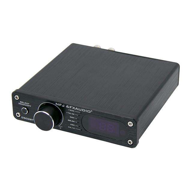 Fx Audio D502Bt Pure Digital Amplifier Bluetooth 5.0 Aux USB Optical Coaxial Hifi 60W Decoding Sub Speaker R/L Amp