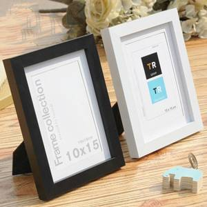 Picture-Frame Wall-Hanging-Type Wood-Color Black White Natural Creative Simple And Solid
