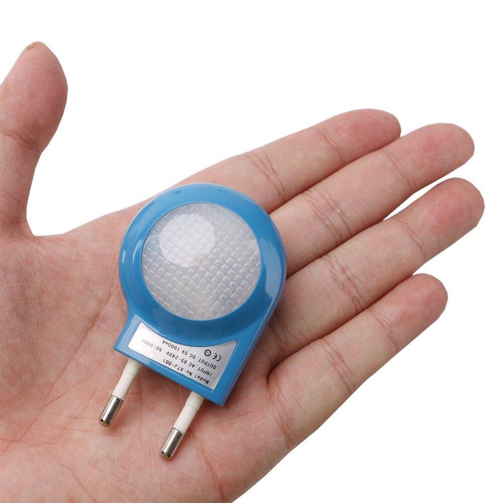 Mini LED Snail Night Light Auto Night Lamp Built-in Light  EU/US Plug Sensor Control Light Wall Lamp For Baby Kids Bedroom
