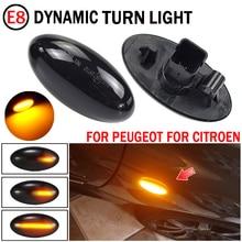2 stücke Für Citroen C6 2005 2012 Dynamische Blinker Licht LED Seite Kotflügel Marker Sequentielle Anzeige Blinker