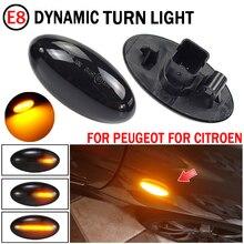 2pcs For Citroen C6 2005 2012 Dynamic Turn Signal Light LED Side Fender Marker Sequential Indicator Blinker