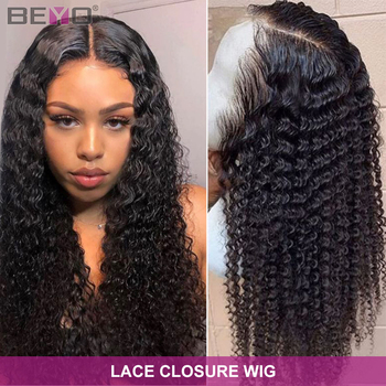 Brazilian Deep Wave Wig 5X5 Lace Closure Wig Deep Curly Human Hair Wigs For Women 4x4 Closure Wig Pre Plucked Beyo Remy Hair