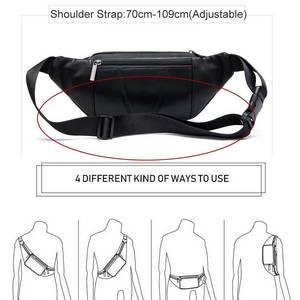 Image 5 - MVA Mens Waist Bag Belt Waist Packs Sheep genuine Leather Waist Bag For men/women Fanny Pack Belt Bum/Hip mens belt bags  8879