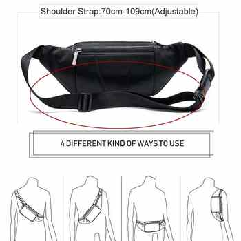 MVA Men\'s Waist Bag Belt Waist Packs Sheep genuine Leather Waist Bag For men/women Fanny Pack Belt Bum/Hip men\'s belt bags