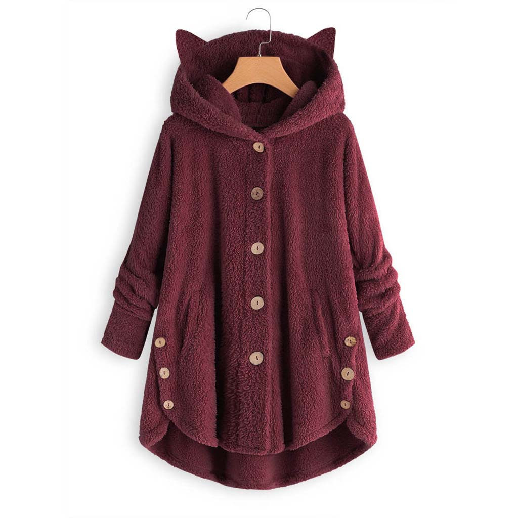 Hd4ec8d62ed2842b2a5f90ef77062e31cS Women Flannel Coat Pockets Solid fleece Tops Hooded Pullover Loose Hoodies Plus Size Cat Ear Cute Womens Warm Sweatshirt 2019