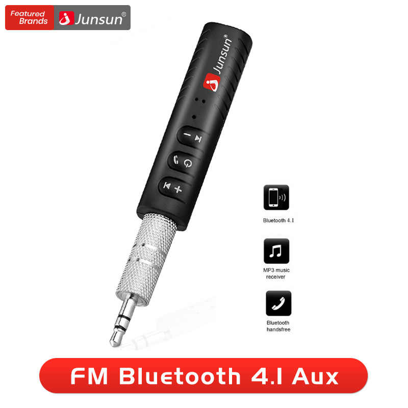 Junsun MINI 3.5 Mm AUX Adaptor Bluetooth Mobil Kit Handsfree Musik Audio Receiver Jack Bluetooth 2018 Baru untuk Speaker Headphone