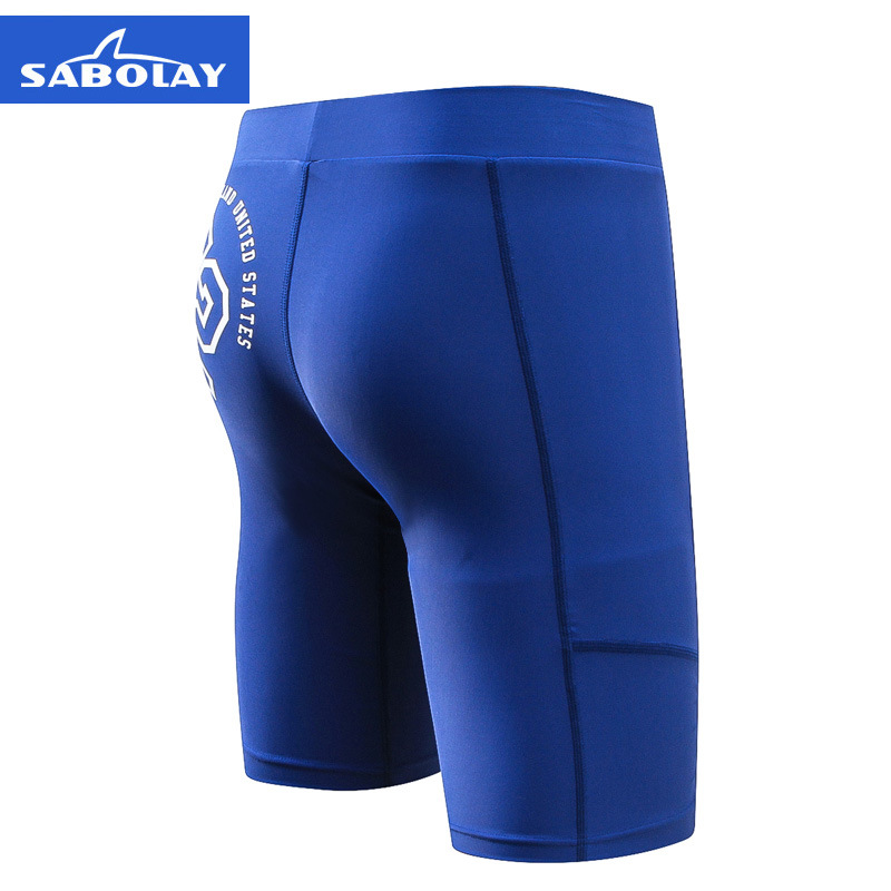SABOLAY New Style Men's Swimming Trunks Swimming Suit Boxer Short Quick-Dry Competition Swimming Trunks