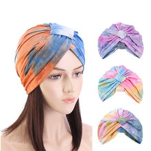 Женская краситель галстук тюрбан химиотерапия шляпа Головной