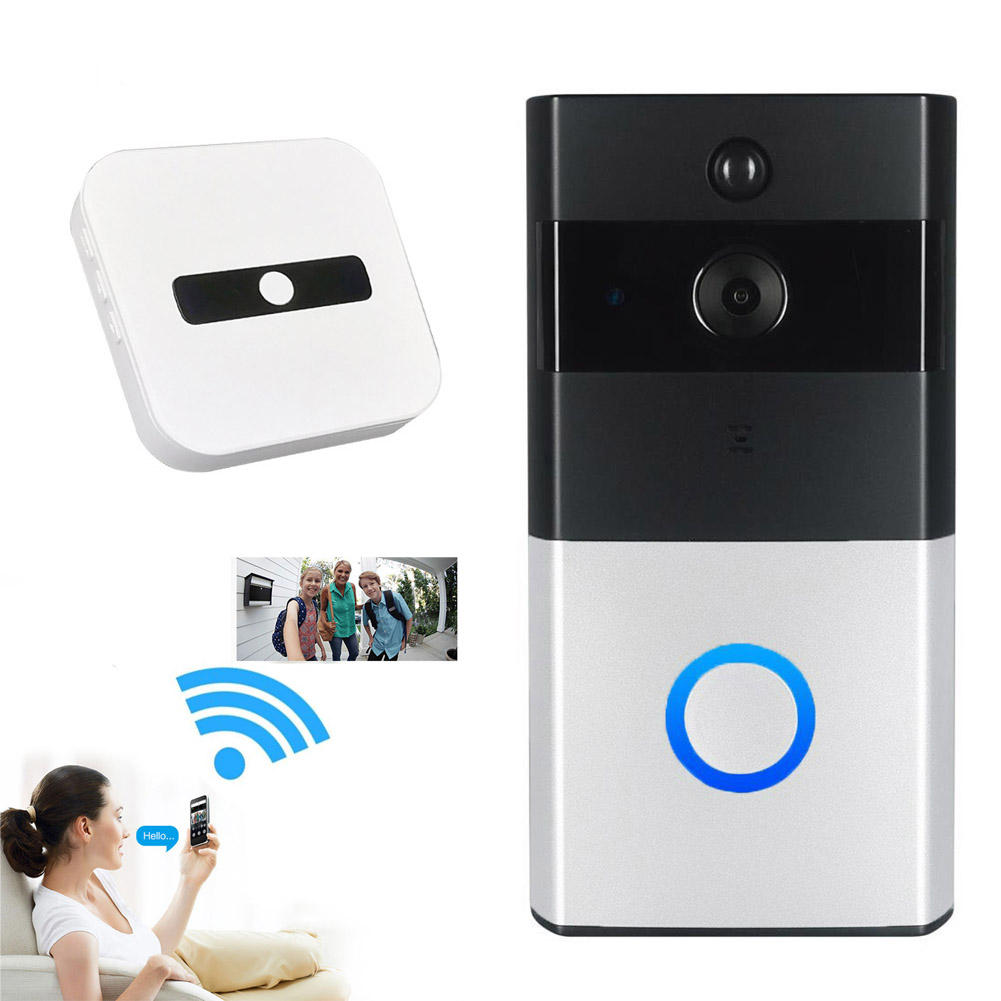 New Wire-free WiFi Video Doorbell With 8G TF Card 720P HD PIR Motion Detection Alerts Night Vision HD Camera UK Plug VH9