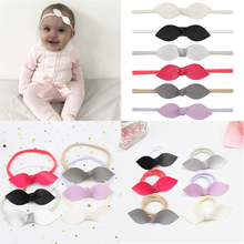 6Pcs/Set Soft Leather Leaf Head Band For Baby With Elastic Nylon Color Korean Fashion Headwear Kids Hair Accessories