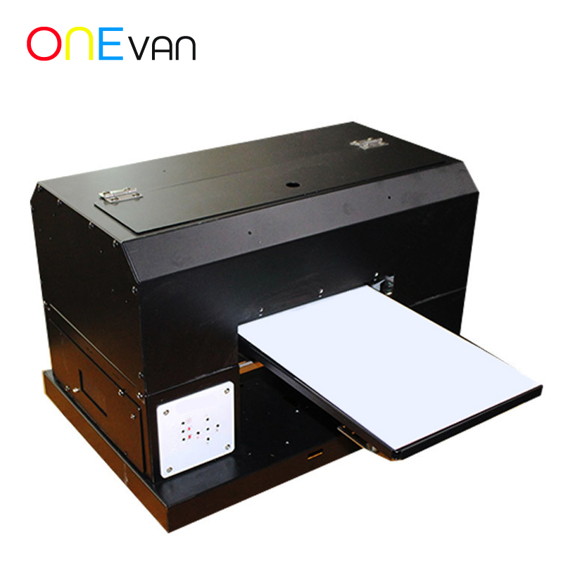 ONEVAN.Automatic T-shirt Printer A4 Size Cloth Garment UV Printer With T-shirt Tray/ Ink/ Software DTG Flatbed Printing Machine