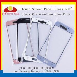 Image 1 - 10 sztuk/partia ekran dotykowy do Samsung Galaxy J3 PRO 2017 J330 J330F SM J330FN SM J330F/DS Panel dotykowy przedni zewnętrzny obiektyw LCD szkła