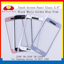 10 unids/lote pantalla táctil para Samsung Galaxy J3 PRO 2017 J330 J330F SM J330FN SM J330F/DS Touch Panel frontal exterior lente de Cristal LCD