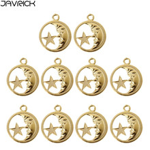 Moon Star Round Resin Frame Pendant Open Bezel Setting Resin Jewelry Making 10Pc