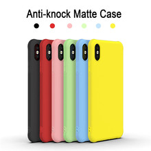 Anti-knock Matte Case For iPhone 11 Pro Max Soft Silicone TPU Phone Cases For iPhone 7 8 6 6s Plus X XS MAX XR Solid Color Cover цена и фото