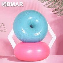 Йога мячи Спорт пилатес фитнес-баланс фитнес фитбол тренировки упражнения мяч массажный с насосом пончики