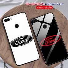 Funda de teléfono de lujo para Ford, protector de cristal para Huawei P30 Lite 20 Por P9 10 Mate 10 9 Honor 9 10 NOVA 5