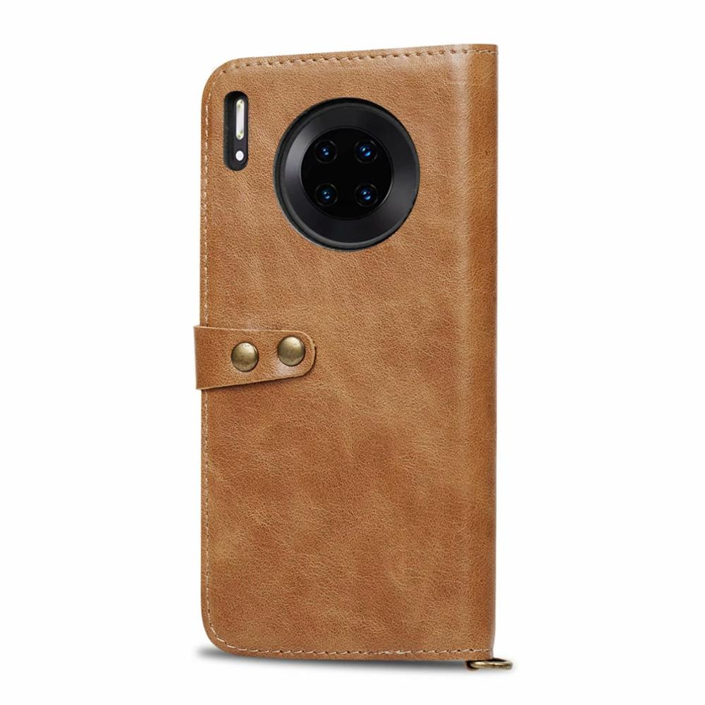 New Soft 100% Leather Luxurious Comfortable For huawei Mate 30 30Pro Wallet Flip Phone Case For Mate 20 Pro Mate 20lite