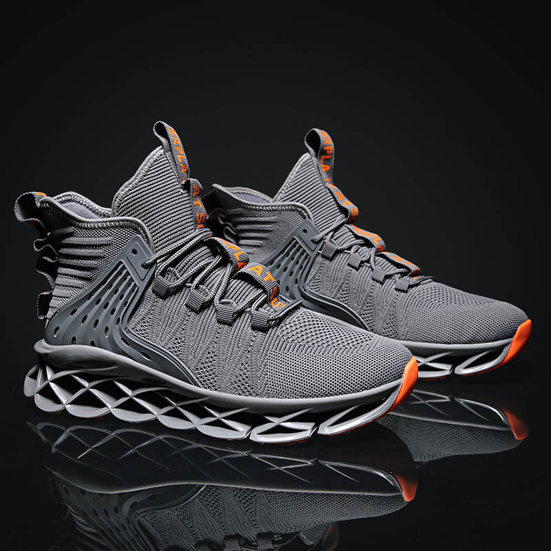 High Top Running Shoes For Men Blade Sports Shoes Breathable Cushioning Sneakers Trainers Fitness Jogging Shoes Zapatillas