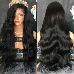 LUFFYHAIR Lace Front wig 250% Full Density Remy Brazilian Body Wave Human Hair Preplucked with Baby Hair for Women