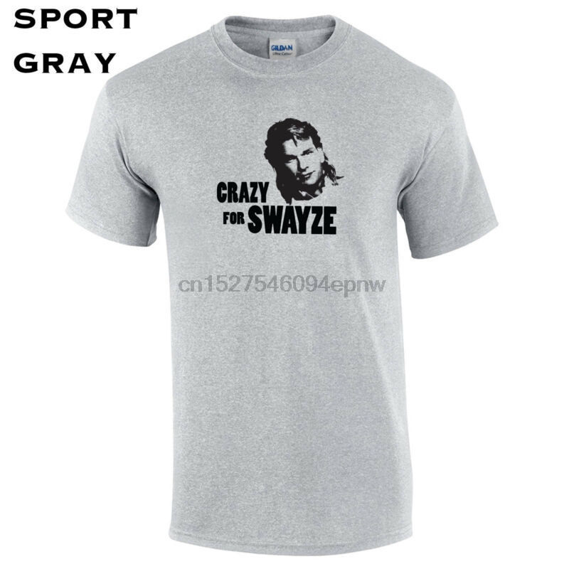 049 Crazy for Swayze Mens T-Shirt college funny actor pop classic dancing hip