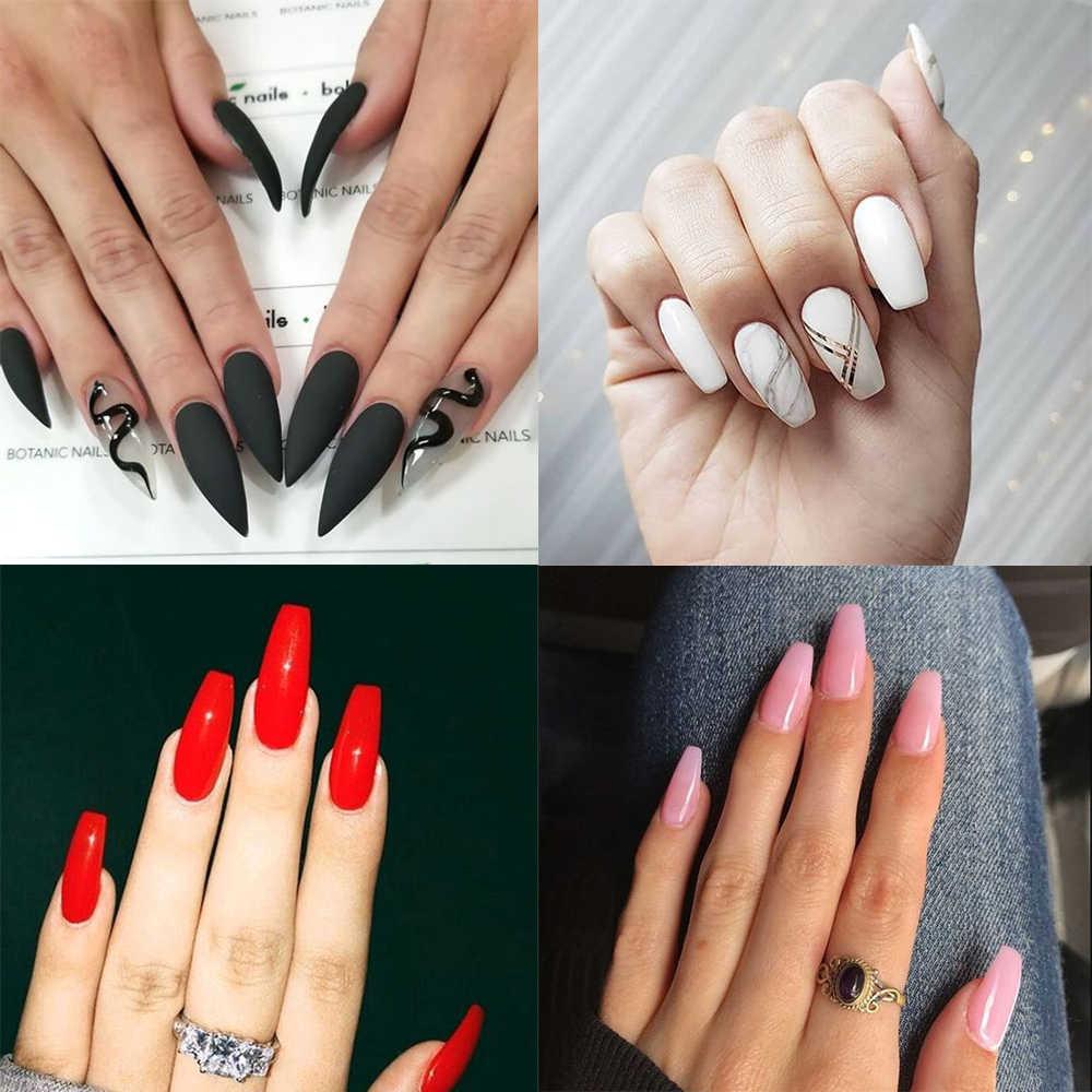 Mizhse 18 Ml Uv Gel Vernis Nagellak Hybrid Manicure Nail Gel Voor Soak-Off Witte Primer Top Jas uv Gel L Lak 1/2 Pcs